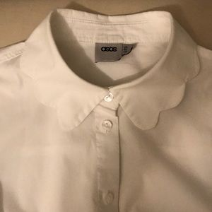 ASOS Scalloped collar button down size 0